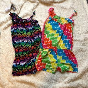 2/$16 Faded Glory Girls Rompers Size 10/12